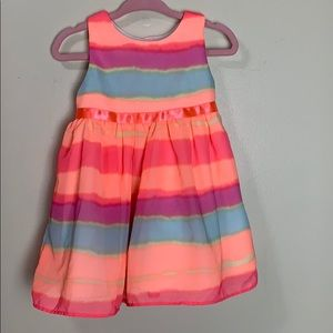 Girls 12 month Rare Edition Dress bright & stripes
